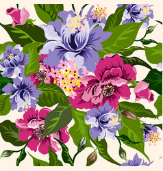 floral watercolor pattern with flowers peonies vector image