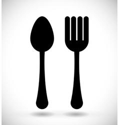 Food cutlery icon vector