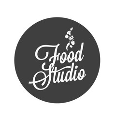 food studio vintage avatar on white background vector image