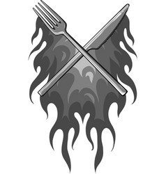fork knife restaurant vector image