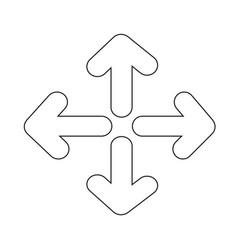 Full screen icon design vector