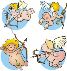 funny cupids vector image