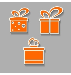 Gift icons colorful design concept with shadow vector