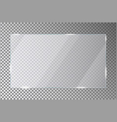 Glass plate on transparent background acrylic vector