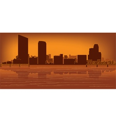 grand rapids michigan skyline vector image vector image