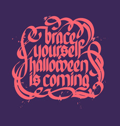 halloween typographical concept vector image