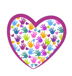 Hands of love logo vector image