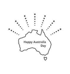 happy australia day with fireworks stars vector image