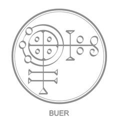 Icon with symbol demon buer vector