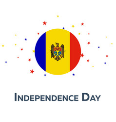 independence day of moldova patriotic banner vector image
