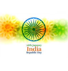 india happy republic day creative background vector image