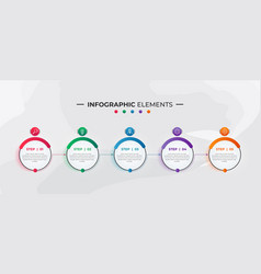infographic elements for business vector image