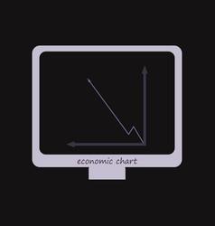 Interactive board drawn icon arrows digits line vector