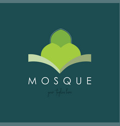 Islamic community and mosque logo vector