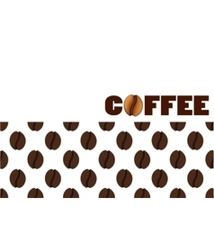 Isolated abstract coffee beans background vector image