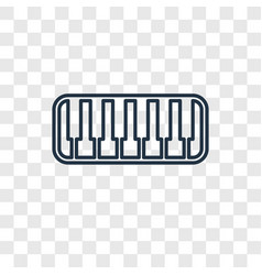 keyboard toy concept linear icon isolated on vector image
