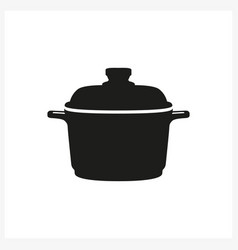 kitchen equipment in simple monochrome style icon vector image
