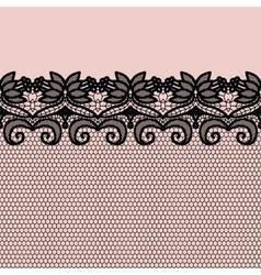 Lace border invitation card vector