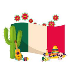mexican culture cartoon vector image