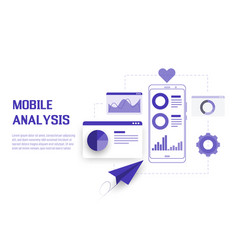 mobile data analysis research planning statistics vector image