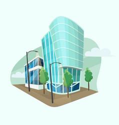 modern office buildings cartoon style vector image