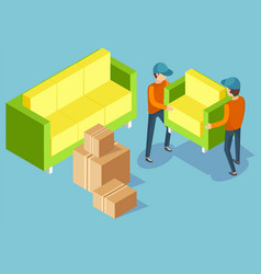 Moving house transporting furniture image vector