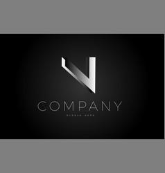 N black white silver letter logo design icon vector