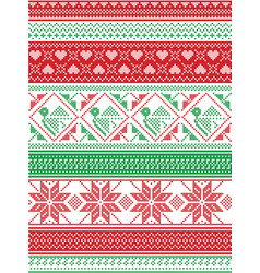nordic style style winter christmas pattern vector image