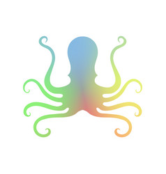Octopus icon isolated stilized logo design sea vector
