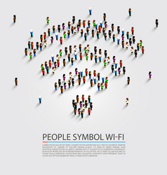 People wifi sign vector