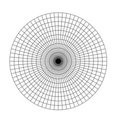 polar grid of 10 concentric circles and 5degrees vector image