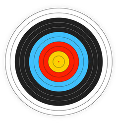 Printable archery target background vector
