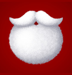 Realistic santa claus white beard isolated vector