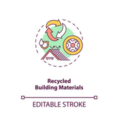 Recycled building materials concept icon vector
