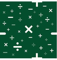seamless mathematics or math education background vector image