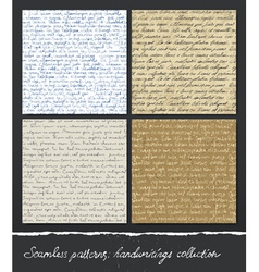 Seamless pattern handwritings collection abstract vector