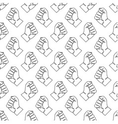 seamless pattern with human hands vector image