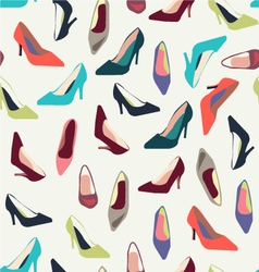 shoes pattern fashion shoes fashion background vector image