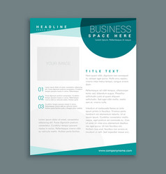 simple blue brochure design template in size a4 vector image