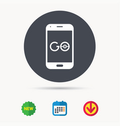 Smartphone game icon go symbol vector