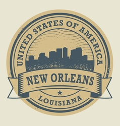 Stamp New Orleans vector