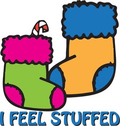 Stuffed Stockings vector