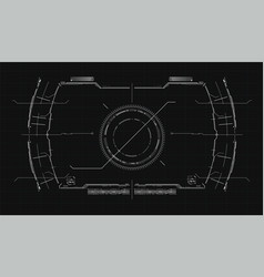the navigation system hud interface design vector image