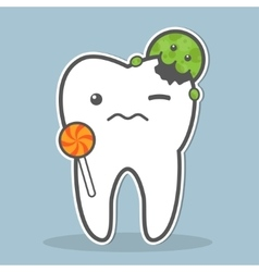 Tooth attacked microorganism vector