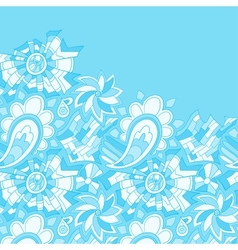 Vintage like floral card vector image