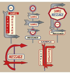 Vintage signpost elements vector