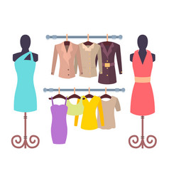 vogue clothing collection vector image