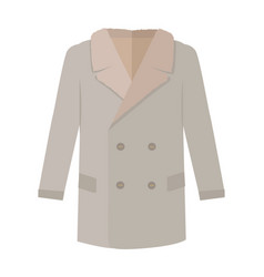 Warm mans coat flat style vector