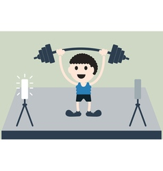 Weightlifting athlete is win vector