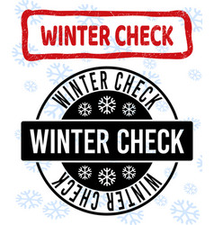 winter check scratched and clean stamp seals for vector image
